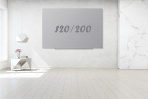 לוח מחיק תליה נסתרת אפור 120/200