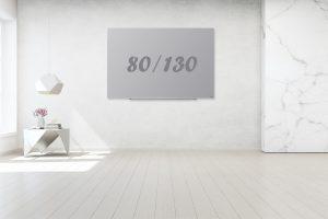 לוח זכוכית תליה נסתרת אפור 80/130