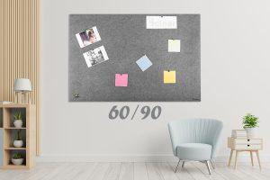 לוח נעיצה אקוסטי אפור 60.90