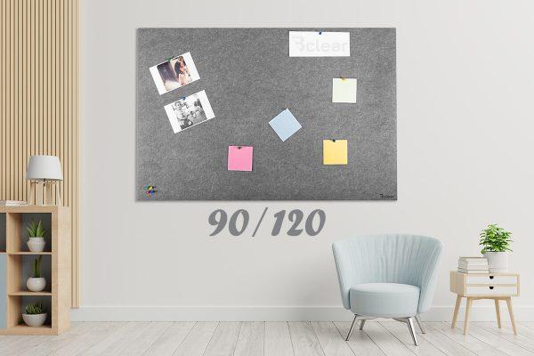 לוח נעיצה אקוסטי אפור 90.120