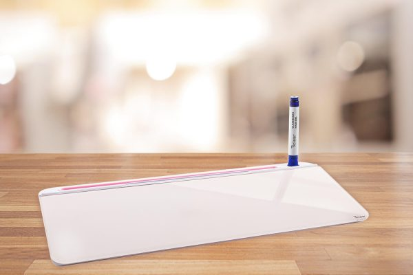 לוח זכוכית מחיק שולחני עם תא אחסון Bclear - סגול