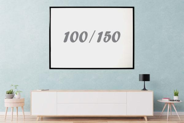 לוח מחיק עם מסגרת שחורה 150x100