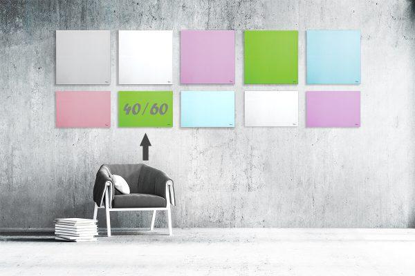 """לוח מחיק זכוכית מגנטי צבע ירוק 40/60 ס""""מ מסדרת Bclear mini"""