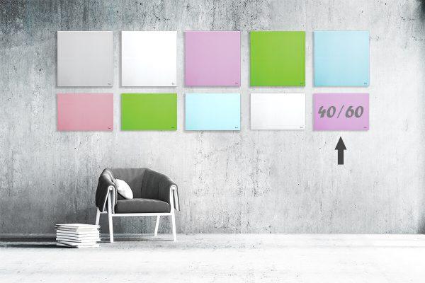 """לוח מחיק זכוכית מגנטי צבע סגול 40×60 ס""""מ מסדרת Bclear mini"""