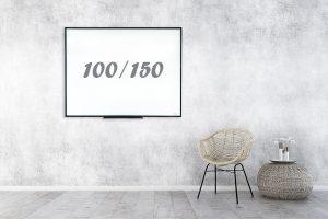 לוח מחיק מסגרת שחורה 100/150