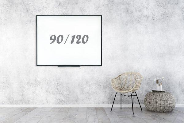 לוח מחיק מסגרת שחורה 90/120