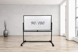 לוח נייד מסגרת שחורה 90/180
