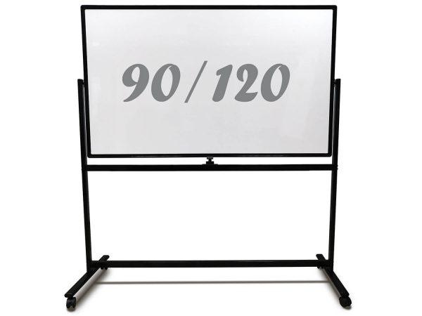 לוח מחיק נייד מסגרת שחורה 90x120