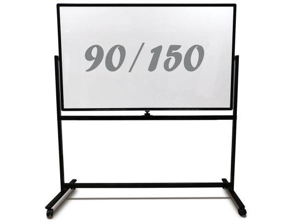 לוח מחיק נייד מסגרת שחורה 90x150