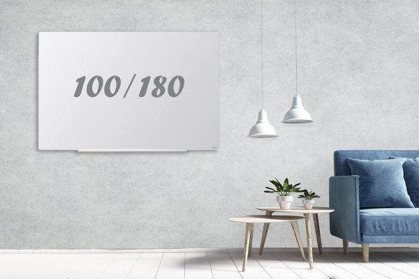 לוח זכוכית תליה נסתרת 100/180