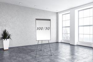 לוח פליפצ'ארט 3 רגלים 100/70