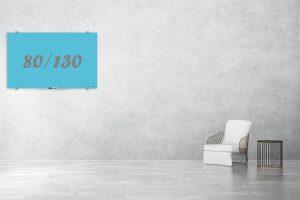 לוח מזכוכית קולור טורקיז 80/130