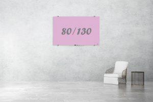לוח זכוכית מחיק בצבע סגול 80/130