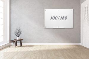 לוח מחיק קלאסי לבן 100.150