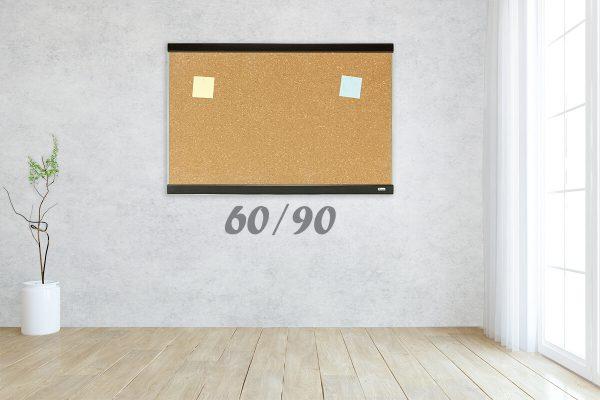 לוח שעם מסגרת עץ ואלומניום מידות 60/90