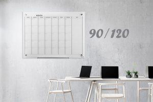 לוח תכנון חודשי לבן מידות 90/120