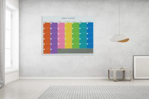 לוח תכנון חודשי צבעוני