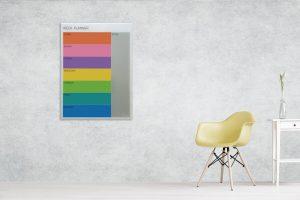 לוח תכנון שבועי צבעוני
