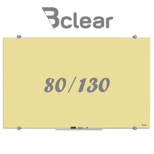 לוח מחיק זכוכית מגנטי צבע צהוב פסטל מסדרת Bclear COLOR