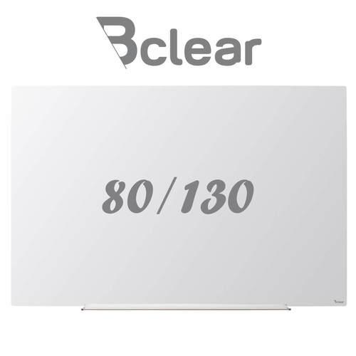 לוח מחיק זכוכית מגנטי לבן 80x130 ס''מ תליה נסתרת סדרת INVISIBLE