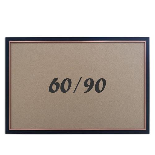 """לוח שעם עם מסגרת שחורה מידה 60x90 ס""""מ"""