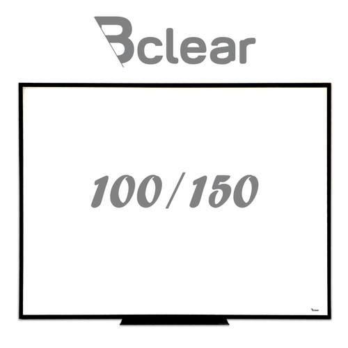 לוח מחיק זכוכית מגנטי לבן משולב עם שחור 100x150 ס''מ - תליה נסתרת