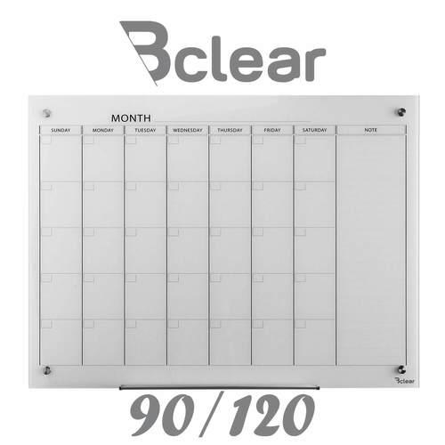 """לוח מחיק זכוכית מגנטי תכנון חודשי 90x120 ס""""מ"""