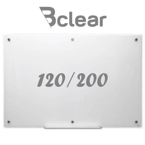לוח זכוכית מחיק מגנטי 120x200 ס''מ לבן - Bclear