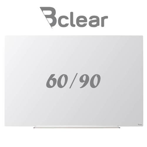 לוח מחיק זכוכית מגנטי לבן 60x90 ס''מ תליה נסתרת סדרת INVISIBLE