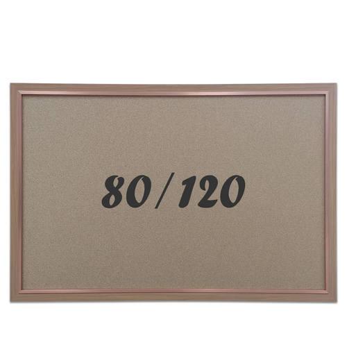 """לוח שעם עם מסגרת חומה מידה 80x120 ס""""מ"""