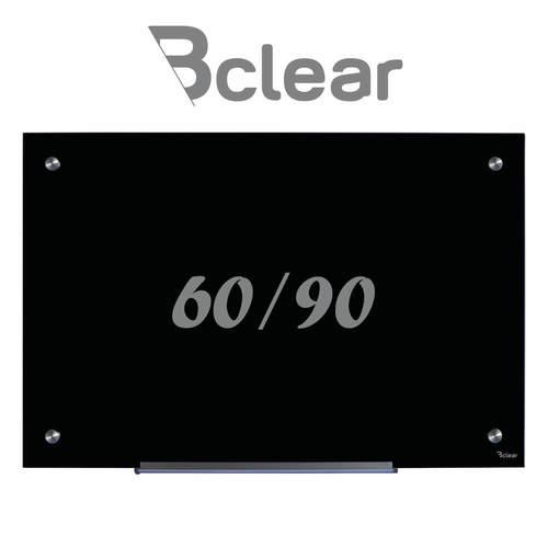 """לוח מחיק זכוכית מגנטי שחור 60x90 ס""""מ - Bclear"""