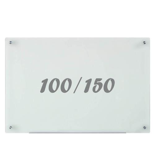 לוח מחיק זכוכית חלבית מגנטי 100x150 ס''מ