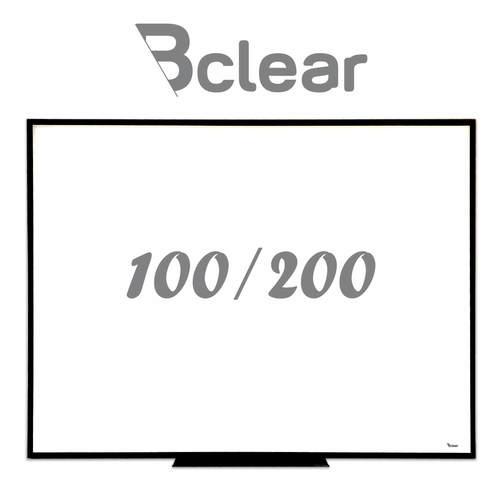 לוח מחיק זכוכית מגנטי לבן משולב עם שחור 100x200 ס''מ - תליה נסתרת