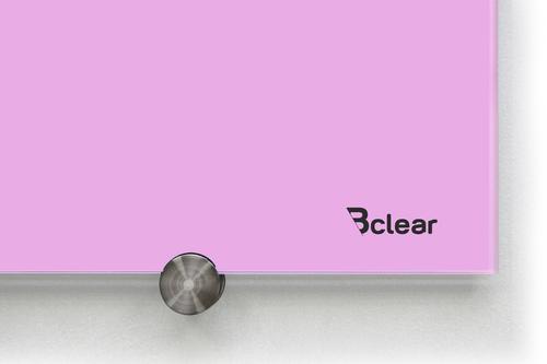לוח מחיק זכוכית מגנטי צבע סגול פסטל מסדרת Bclear COLOR זווית הלוח