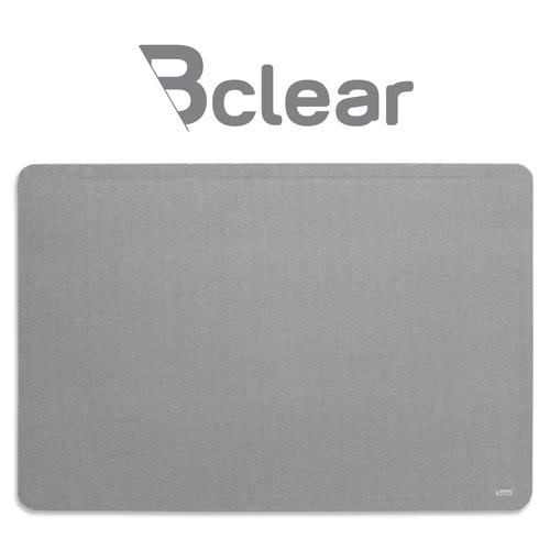 """לוח נעיצה מבד בצבע אפור 60x90 ס""""מ Bclear"""