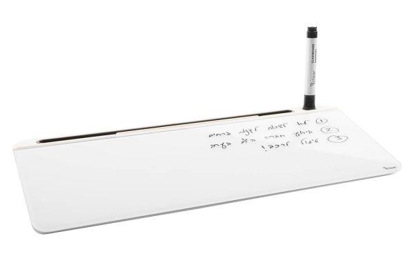 לוח זכוכית מחיק שולחני עם ארגונית Bclear - לבן