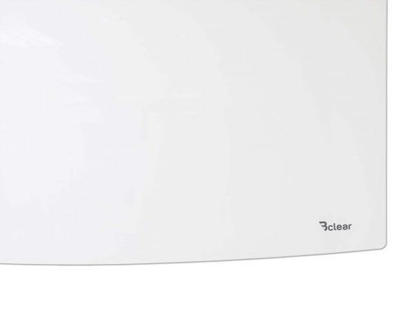 """לוח מחיק זכוכית מגנטי 180×120 ס""""מ מעוגל בתליה נסתרת"""