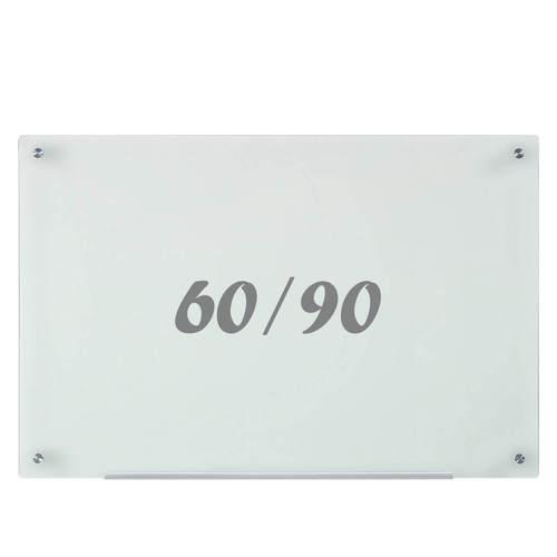 לוח מחיק זכוכית חלבית מגנטי 60x90 ס''מ