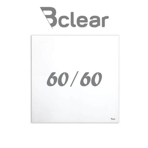 """לוח מחיק זכוכית מגנטי צבע לבן 60x60 ס""""מ מסדרת Bclear mini"""