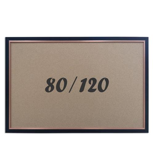 """לוח שעם עם מסגרת שחורה מידה 80x120 ס""""מ"""