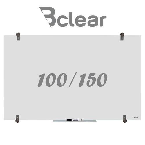 """לוח מחיק זכוכית שקוף מט 100x150 ס""""מ סדרת Bclear Ice"""