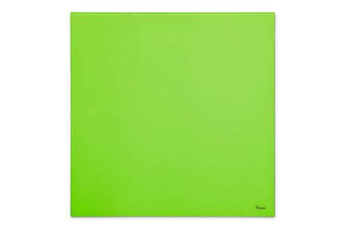 """לוח מחיק זכוכית מגנטי צבע ירוק 60x60 ס""""מ מסדרת Bclear mini תמונה ללא מידות"""