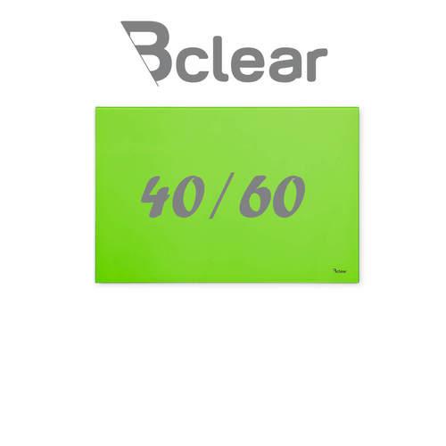 """לוח מחיק זכוכית מגנטי צבע ירוק 40x60 ס""""מ מסדרת Bclear mini"""