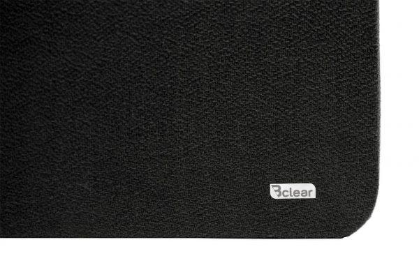לוח שעם בד שחור ללא מסגרת - פינה Bclear