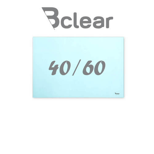 """לוח מחיק זכוכית מגנטי צבע תכלת 40x60 ס""""מ מסדרת Bclear mini"""