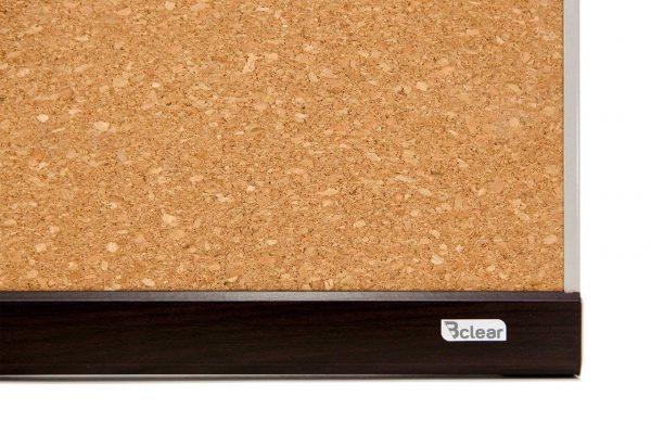לוח שעם עם מסגרת עץ - פינה Bclear