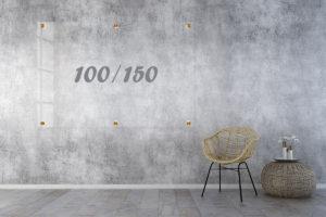 לוח זכוכית שקוף 100x150