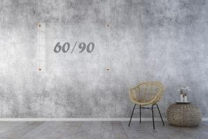 לוח זכוכית שקוף 60x90